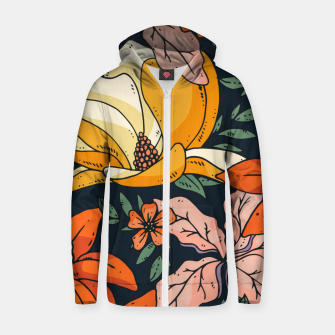 Thumbnail image of Night Forest II Zip up hoodie, Live Heroes