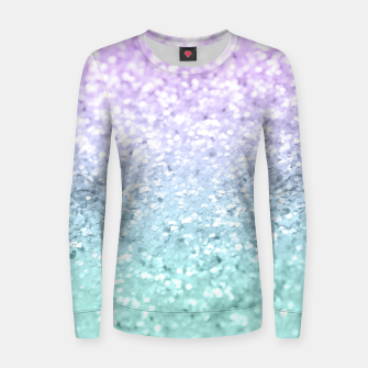 Mermaid Girls Glitter #1a (2019 Pastel Version) #shiny #decor #art  Frauen sweatshirt thumbnail image
