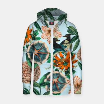 Thumbnail image of Forest Birds Zip up hoodie, Live Heroes