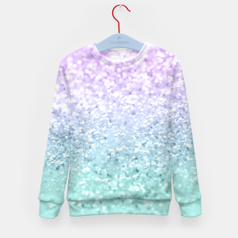 Thumbnail image of Mermaid Girls Glitter #1a (2019 Pastel Version) #shiny #decor #art  Kindersweatshirt, Live Heroes