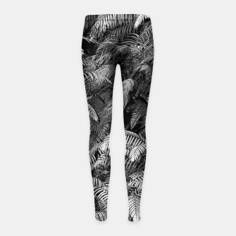 This World Is A Jungle Girl's leggings Bild der Miniatur