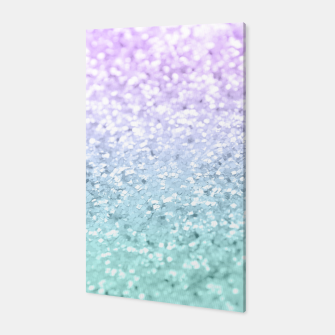 Mermaid Girls Glitter #1a (2019 Pastel Version) #shiny #decor #art  Canvas thumbnail image