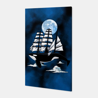Fantasy Killer Whale Canvas Bild der Miniatur