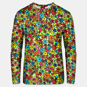 Thumbnail image of Flower doodles - hand drawn Unisex sweater, Live Heroes