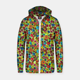 Thumbnail image of Flower doodles - hand drawn Zip up hoodie, Live Heroes