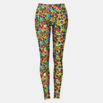 Thumbnail image of Flower doodles - hand drawn Leggings, Live Heroes