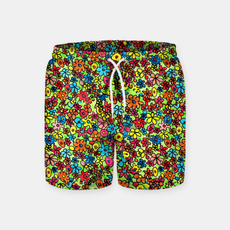 Thumbnail image of Flower doodles - hand drawn Swim Shorts, Live Heroes