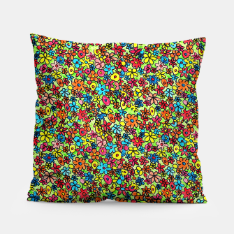 Thumbnail image of Flower doodles - hand drawn Pillow, Live Heroes