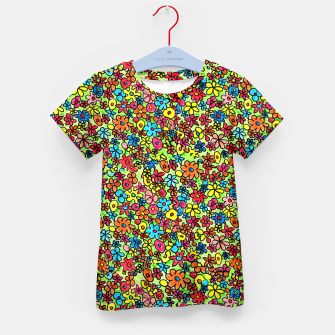 Thumbnail image of Flower doodles - hand drawn Kid's t-shirt, Live Heroes