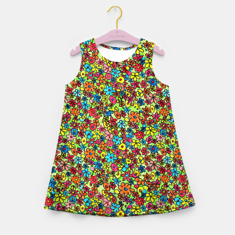 Thumbnail image of Flower doodles - hand drawn Girl's summer dress, Live Heroes