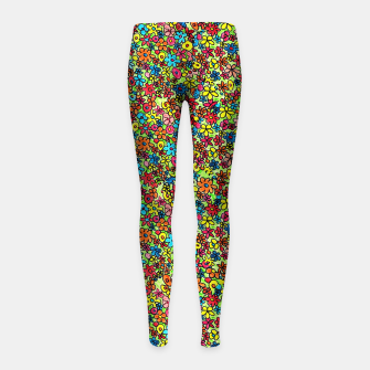 Thumbnail image of Flower doodles - hand drawn Girl's leggings, Live Heroes