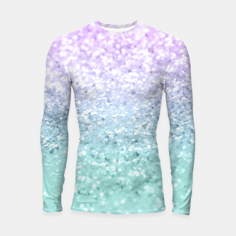 Mermaid Girls Glitter #1a (2019 Pastel Version) #shiny #decor #art  Longsleeve rashguard thumbnail image