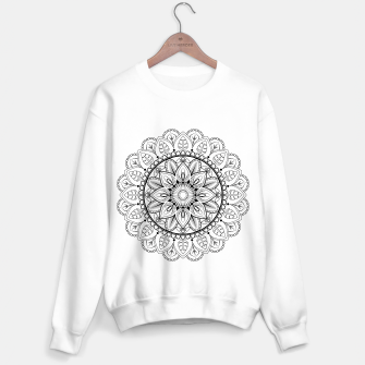 Thumbnail image of Black and White Mandala Sweater regular, Live Heroes