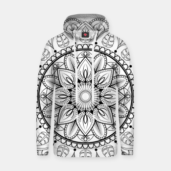 Thumbnail image of Black and White Mandala Hoodie, Live Heroes