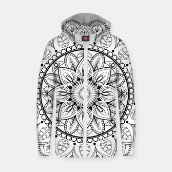Thumbnail image of Black and White Mandala Zip up hoodie, Live Heroes