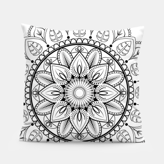 Thumbnail image of Black and White Mandala Pillow, Live Heroes