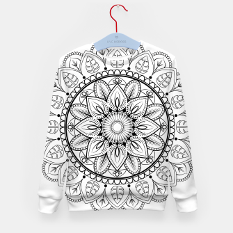 Thumbnail image of Black and White Mandala Kid's sweater, Live Heroes