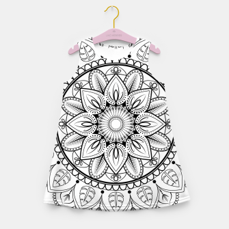 Thumbnail image of Black and White Mandala Girl's summer dress, Live Heroes