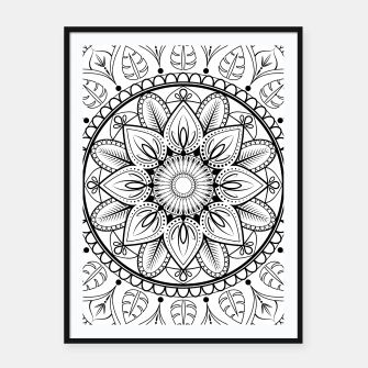 Thumbnail image of Black and White Mandala Framed poster, Live Heroes