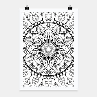 Thumbnail image of Black and White Mandala Poster, Live Heroes