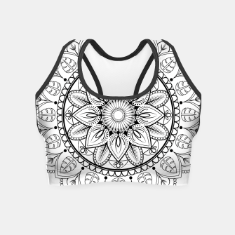 Thumbnail image of Black and White Mandala Crop Top, Live Heroes