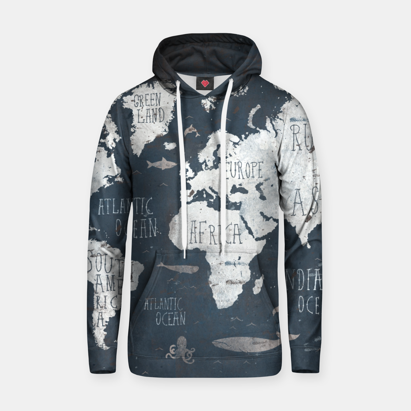 Image of World Map Hoodie - Live Heroes