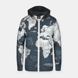 World Map Zip up hoodie thumbnail image