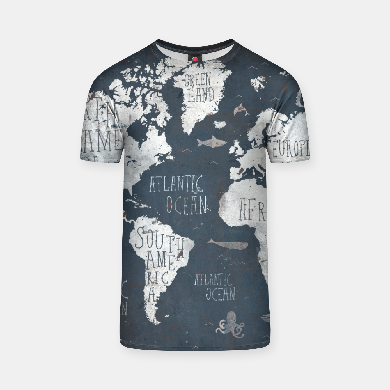 Image of World Map T-shirt - Live Heroes