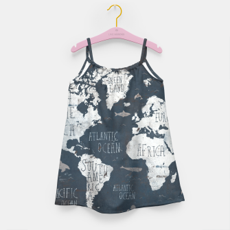World Map Girl's dress thumbnail image