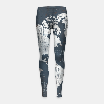 World Map Girl's leggings thumbnail image