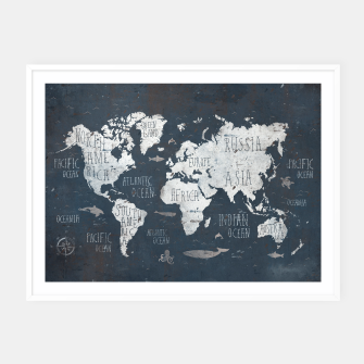 World Map Framed poster thumbnail image