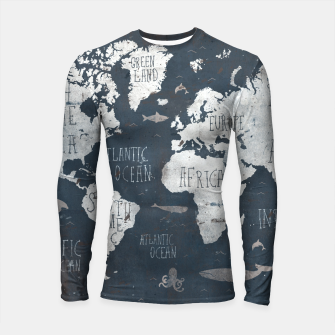 World Map Longsleeve rashguard  thumbnail image