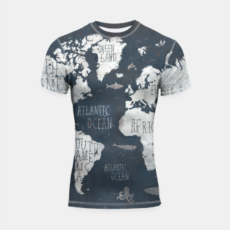 World Map Shortsleeve rashguard thumbnail image