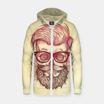 Miniature de image de Hipster is Dead Zip up hoodie, Live Heroes