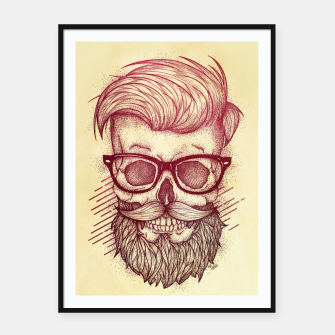 Thumbnail image of Hipster is Dead Framed poster, Live Heroes
