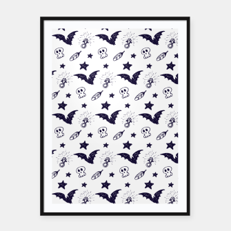 Thumbnail image of Spooky pattern  Framed poster, Live Heroes