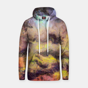 Miniatur abstract misty forest painting 2 hvhdstd Hoodie, Live Heroes
