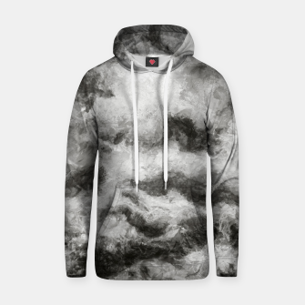Miniatur abstract misty forest painting 2 hvhdbw Hoodie, Live Heroes