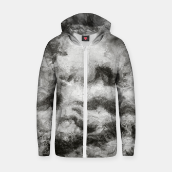 Miniatur abstract misty forest painting 2 hvhdbw Zip up hoodie, Live Heroes