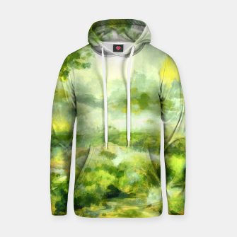Miniatur aquarelle misty forest painting 2 aqnvtg Hoodie, Live Heroes