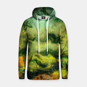 Miniatur abstract misty forest painting 2 hvhdtg Hoodie, Live Heroes