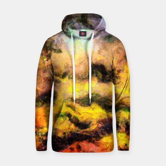 Miniatur abstract misty forest painting 2 hvhdcw Hoodie, Live Heroes