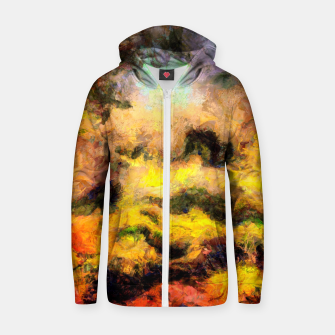 Miniatur abstract misty forest painting 2 hvhdcw Zip up hoodie, Live Heroes