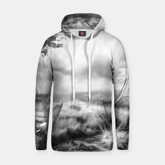Miniatur acrylic misty forest painting 2 acrbw Hoodie, Live Heroes