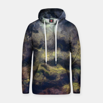 Miniatur abstract misty forest painting 2 hvhdfn Hoodie, Live Heroes