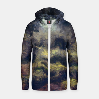 Miniatur abstract misty forest painting 2 hvhdfn Zip up hoodie, Live Heroes