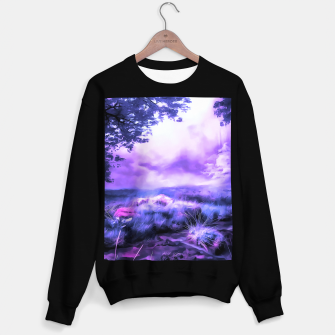 acrylic misty forest painting 2 acrdb Sweater regular Bild der Miniatur