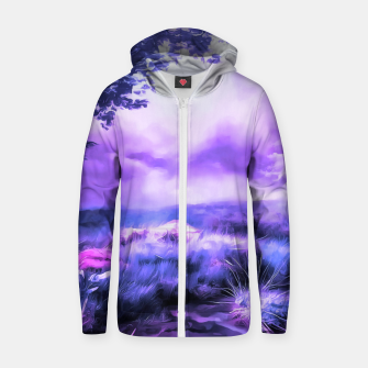 acrylic misty forest painting 2 acrdb Zip up hoodie Bild der Miniatur