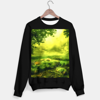 acrylic misty forest painting 2 acrstd Sweater regular Bild der Miniatur