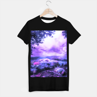acrylic misty forest painting 2 acrdb T-shirt regular Bild der Miniatur